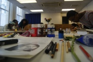 In Pia's workshop